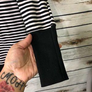 jo & co jeans Tops - Jo & Co Jeans / Striped hooded top / Medium